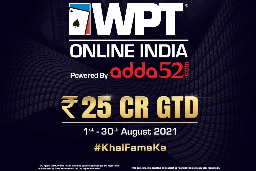 WPT Online India 2021 - August 23 to 29 Results